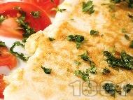 Рецепта Вкусен планински омлет с брашно и прясно мляко
